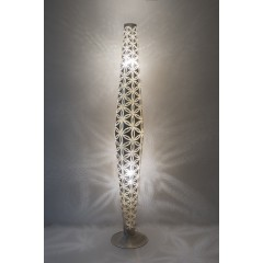 FLOOR LAMP WSD BRASS SILVER PLATED 180    - FLOOR LAMPS